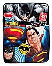 Batman Vs Superman Clash Coral Fleece