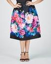Grazia Print Scuba Skirt