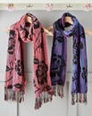 Set of 2 Floral Bubble Scarves