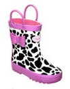 Chipmunks Shelby Cow Print Wellingtons