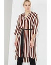 Elvi Striped Shirt Dress