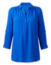 Mid Blue Soft Utility Blouse