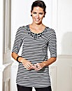 Stripe Jewel Jersey Top