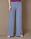 Print Wide Leg Jersey Trousers 29in