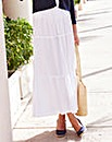 Linen Mix Tiered Skirt