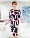 Lorraine Kelly Graphic Scuba Print Dress