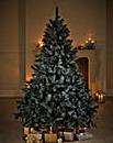 Glitter Tipped Fir Tree 5ft - Black