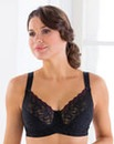 Miss Mary Full Cup Wired Black Lace Bra
