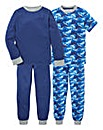 KD Boys Pack of Two Pyjamas