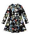 KD Girls Floral Print Scuba Dress