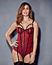 Nicole Red/ Black Lace Body