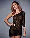 Katrina Lace Black Asymmetric Dress