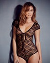 Elle Stretch Lace Black Tassel Body