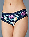 Low Rise Brazillian Briefs, Navy Print