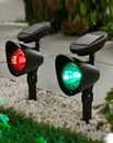 2 Multicolour Solar Spotlights & Remote