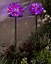 Solar Glass Pink Flower Stake Light