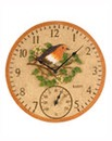 Robin Wall Clock and Thermometer