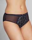 Navy Gina Embroidered Mid Rise Briefs