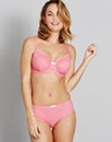 Full Cup Wired Pink/White Spot Bra