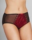 Hannah Ribbon Slot Black/Red Briefs