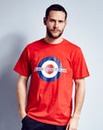 Lambretta Rupert Target Red T-Shirt Long