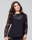 Wolf & Whistle Lace Sleeve Top