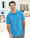 W&B Blue Stripe Polo Shirt R