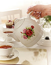 Ceramic Country Rose Kettle