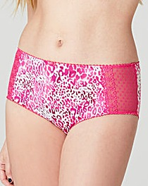 2 Pack Pink/Animal Midi Briefs