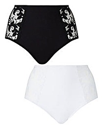 2 Pack Flora Full Fit Black/White Briefs