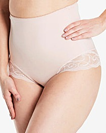 2 Pack Firm Control Lace Briefs