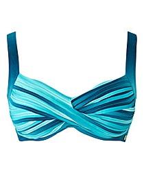 Sunseeker Ombre Twist Front Bikini Top