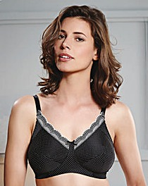 Royce Ava Black/Cream Spot Support Bra