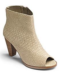 Sole Diva Peep Toe Shoe Boots E Fit