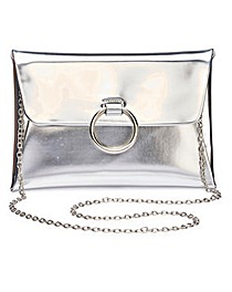Sophie Silver Ring Detail Clutch Bag