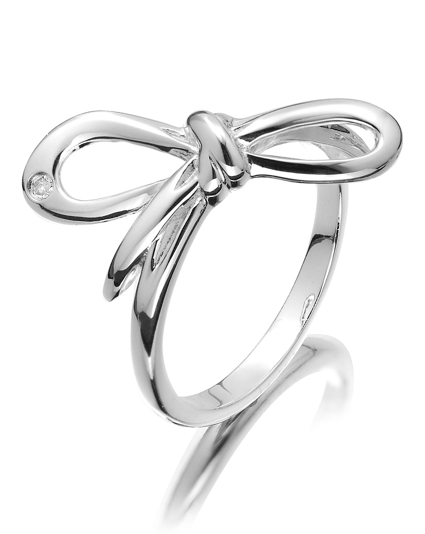Hot Diamonds Sterling Silver Bow Ring