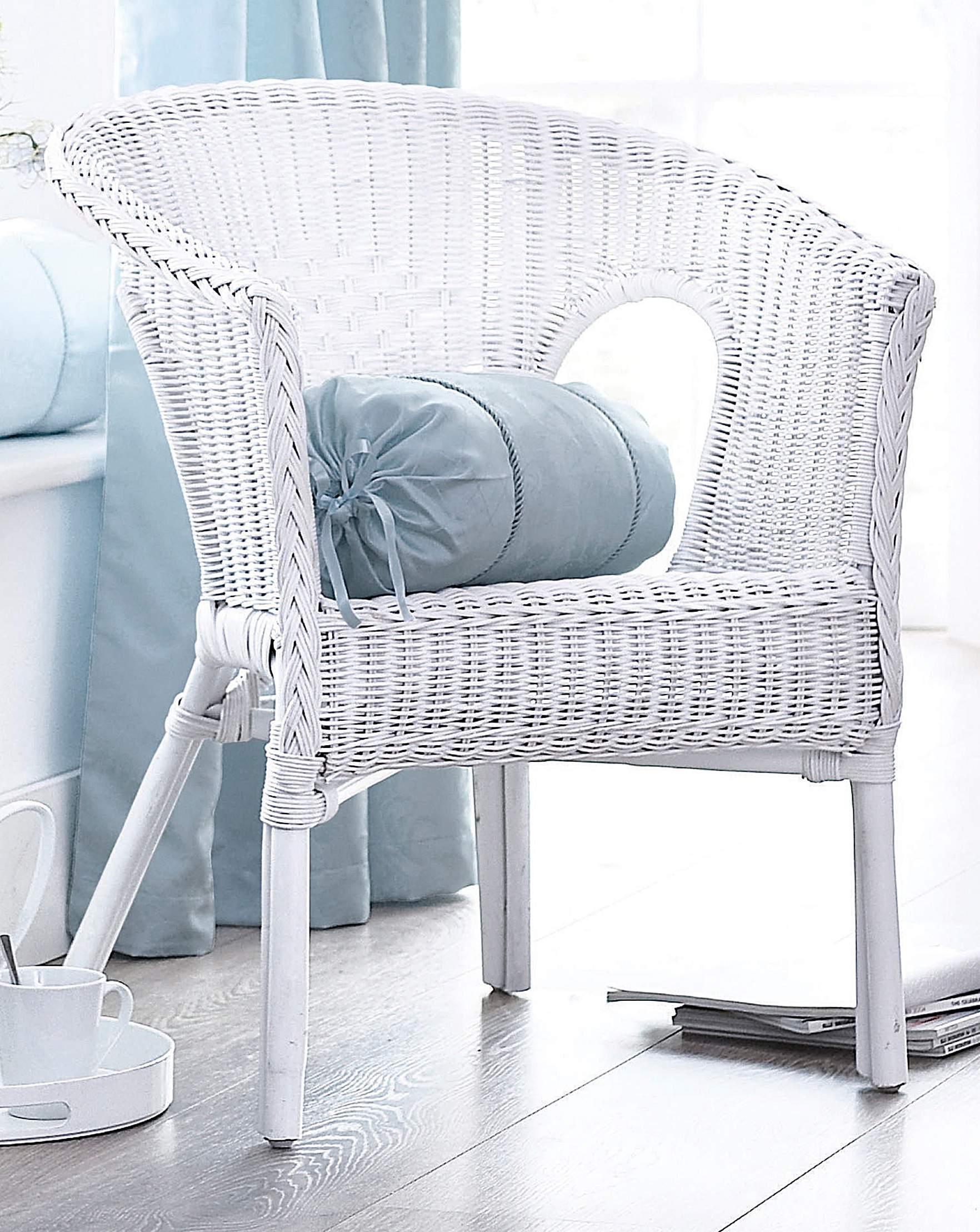 wicker chair house of bath - White Wicker Chair
