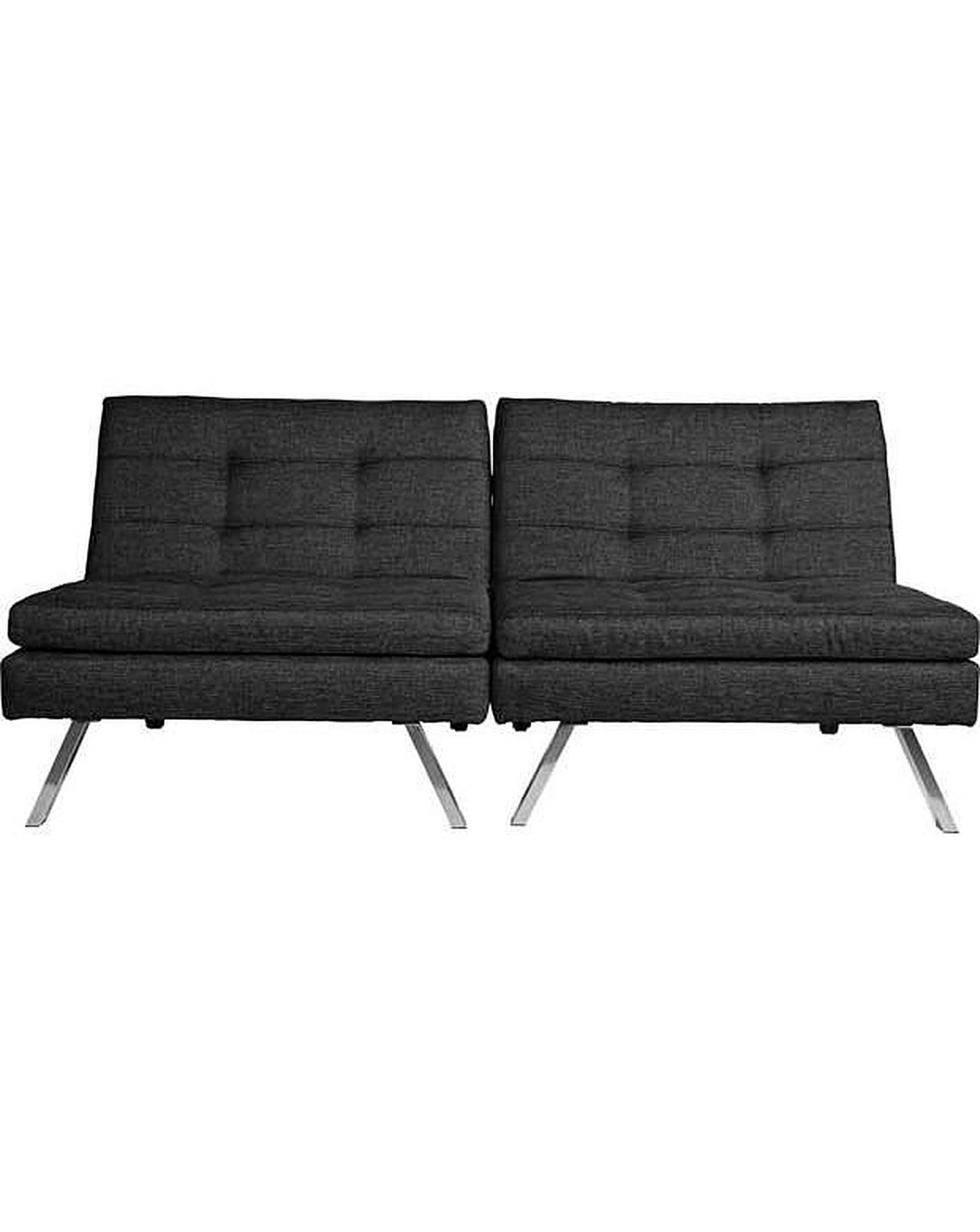 Duo Fabric Clic Clac Sofa Bed Black