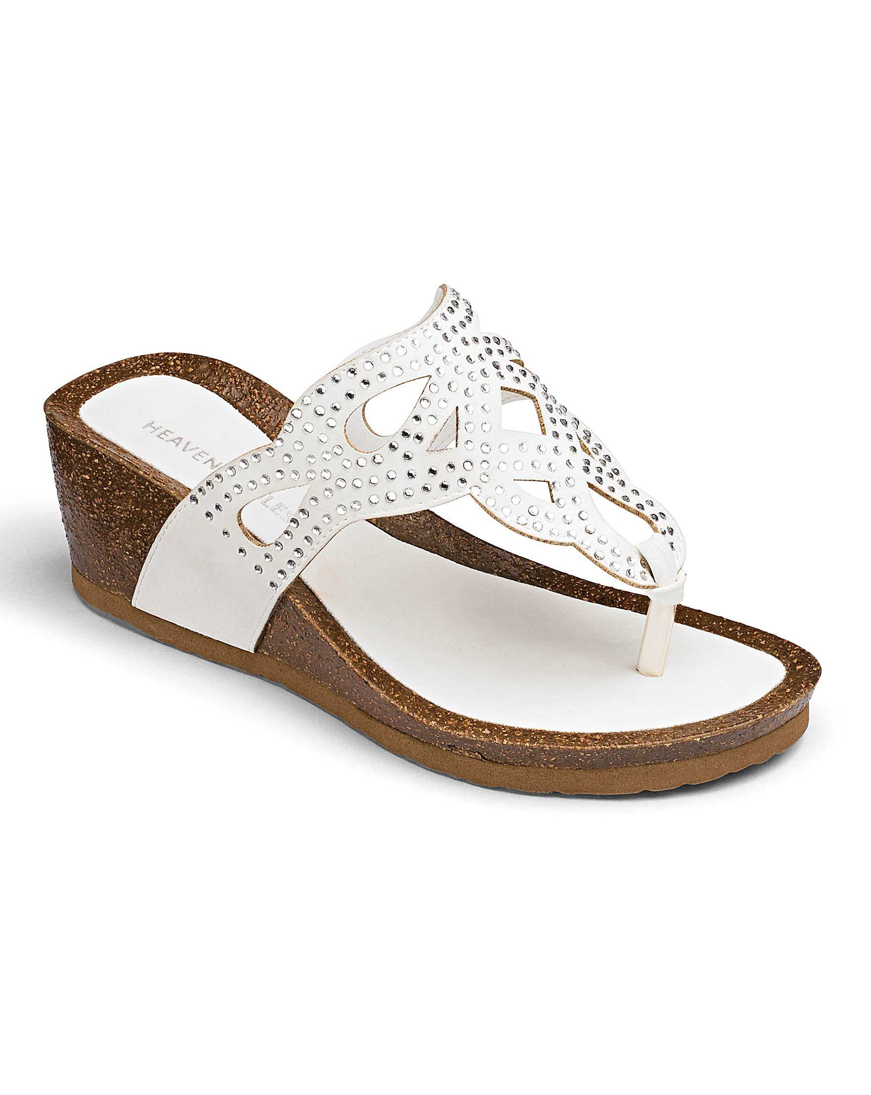 a7ab829b243c Heavenly Soles Wedge Sandals E Fit
