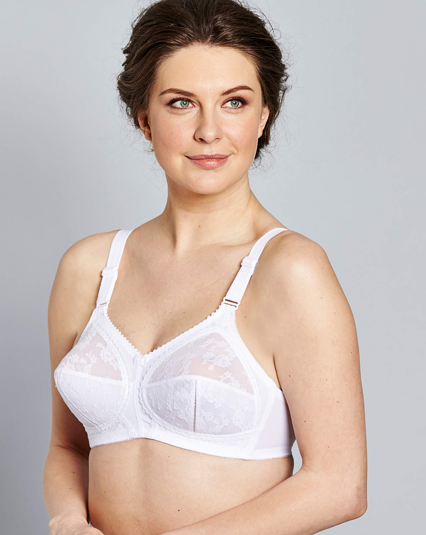 triumph doreen non wired white bra | simply be