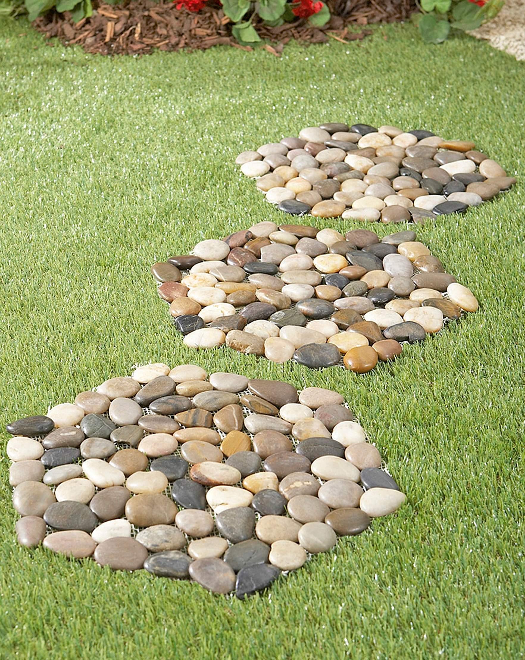 or decor pin stepping plaster rhubarb leaf concrete mold decorative stones stone