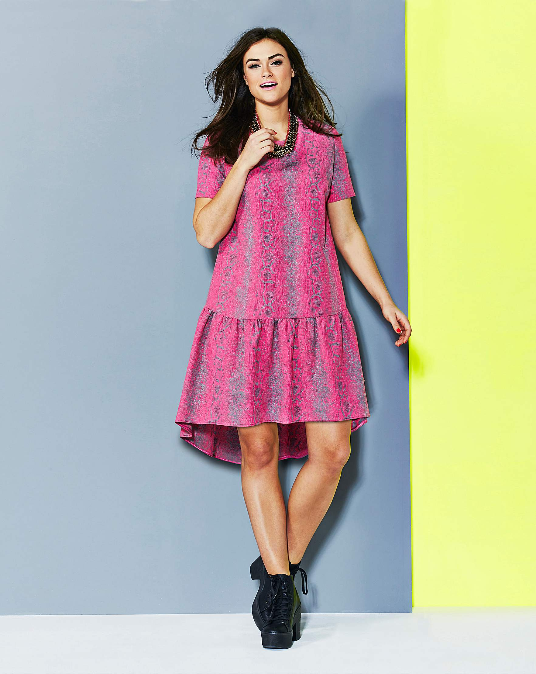 Simply Be Oversized Dropped Peplum Dress Simply Be