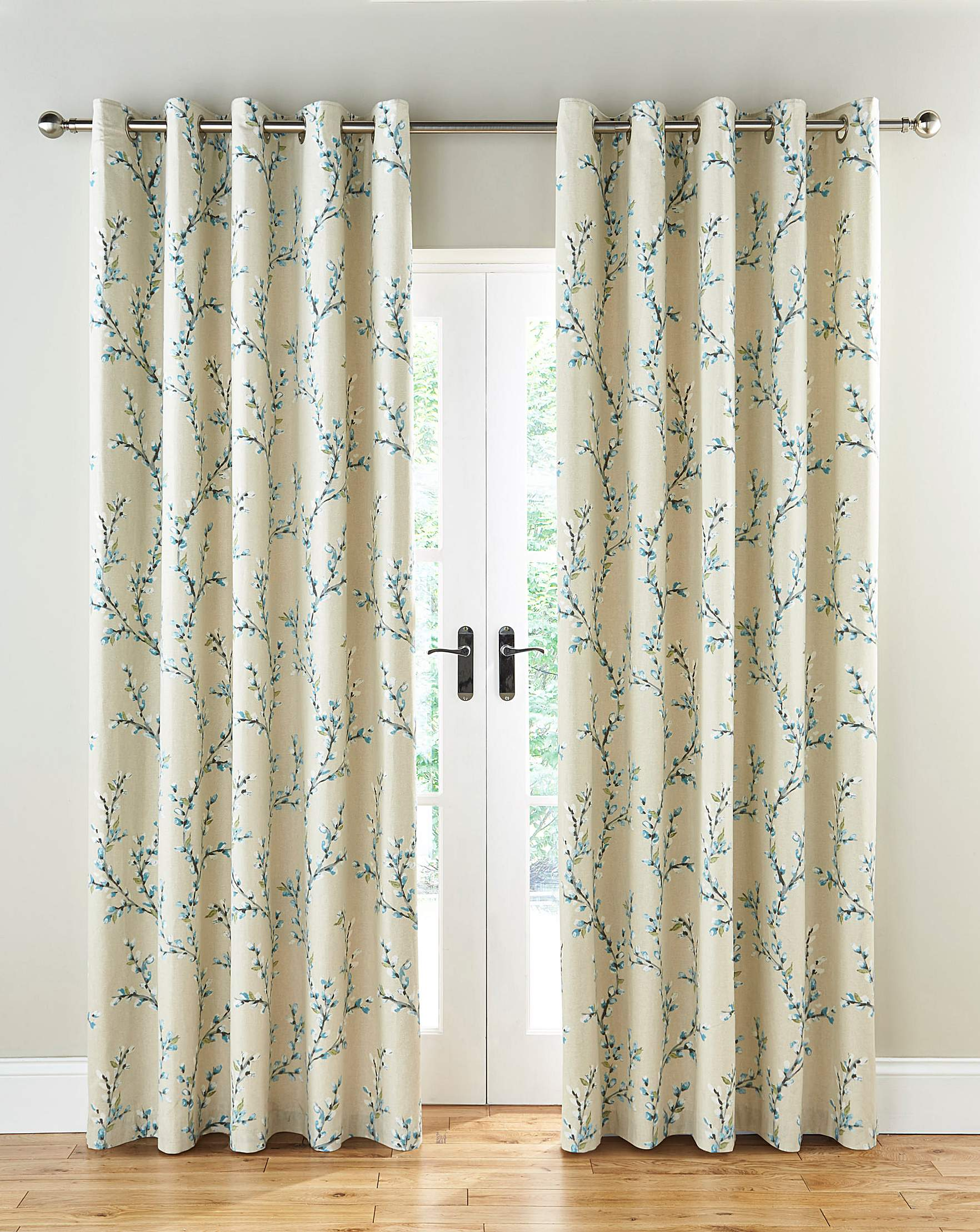ready and eylet duck striped curtains green lined by in made monaco ring product charcoal egg eyelet top sundour