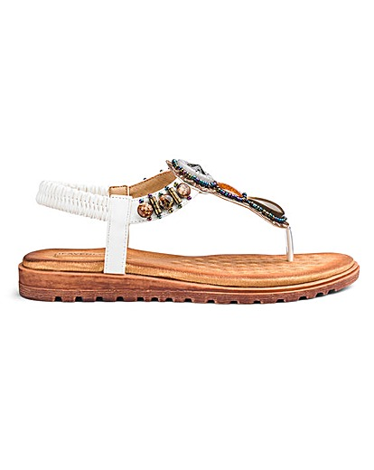 ece68f10e180 Buy Heavenly Soles Toe Post Sandals EEE Fit at jdwilliams.co.uk