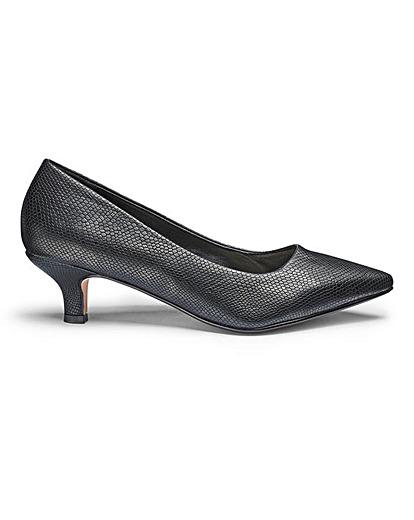 Heavenly Soles Kitten Heel Court Shoes E Fit At Jdwilliams Co Uk