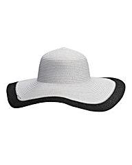 Contrast Trim Floppy Hat