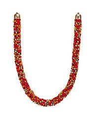 Mood Chunky beaded tribal necklace