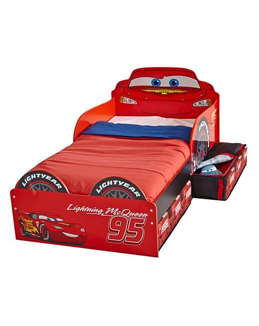 disney cars toddler bed with storage marisota. Black Bedroom Furniture Sets. Home Design Ideas