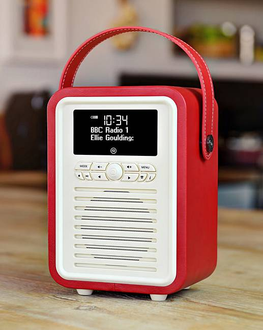vq retro mini dab radio red j d williams. Black Bedroom Furniture Sets. Home Design Ideas