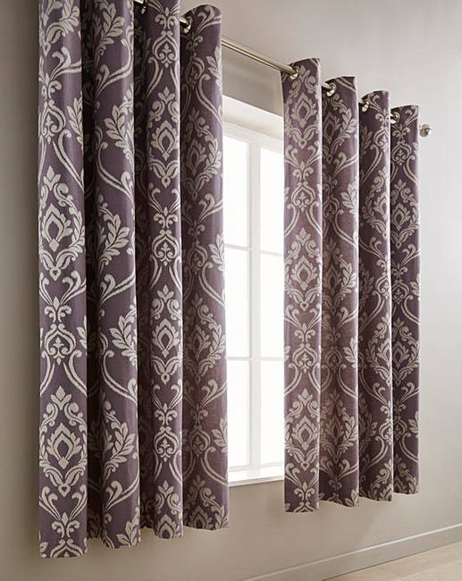 heritage rose chiltern curtain mills curtains faux denver mauve silk lined eyelet fully